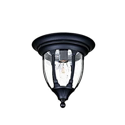 Acclaim 5063BK Suffolk Collection 1-Light Ceiling Mount Outdoor Fixture, Matte Black