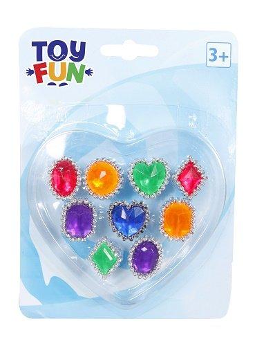 Toy Fun Fingerringe 9 verschiedene The Toy Company 10006 Beauty (Kosmetik und Schmuck) Kinder / Ringe