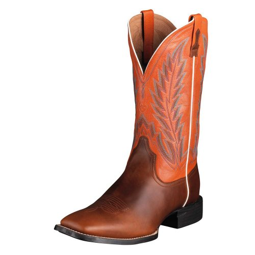Ariat Men's Quantum Brander Chestnut/Mandarin 10.5 (Ariat Boots Chestnut)