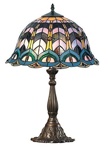 Ellas-Wohnwelt Retro Tiffany - Lámpara de Mesa, diseño de Campana ...