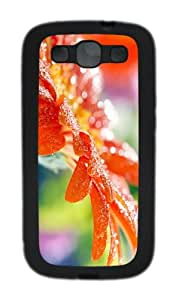 coolest case red flower hd TPU Black case/cover for Samsung Galaxy S3 I9300