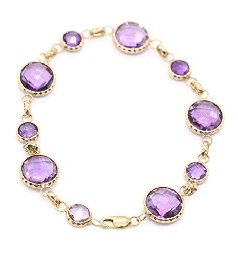 Sophia Fine Jewelry Amethyst Purple Round 7