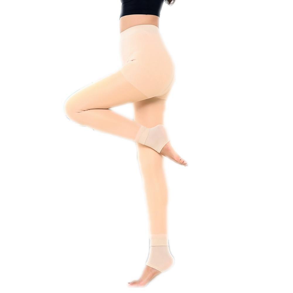 JIAHSA Pantaloni termo-femminili con panno interno per l'inverno autunnale Super Strech , yellow , All code