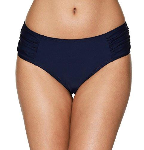 Anwell Women's Classic Ruched Bikini Bottoms Midrise Tankini Bottom Navy XL Beach Classic Bikini Brief