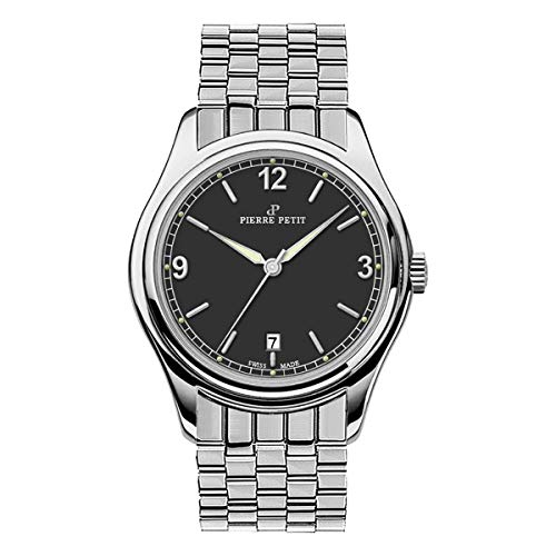 Pierre Petit P-837C Swiss Bracelet Watch w/Date - Silver