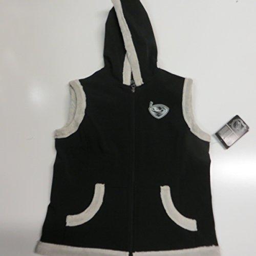 Atlanta Thrashers Womens Medium Full Zip Faux Fur Lined thermabase Vest Jacket AATT 5 M