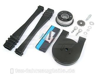 Satz Antriebsteile S51 (14-Teile - Kette+Kettenschutz+Kettenschlauch+Mitnehmer+Ritzel usw.) FEZ Fahrzeugteile GmbH