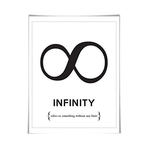Infinity Symbol Punctuation Print. 60 Colours/5 Sizes. Grammar Poster. Classroom Art. English Teacher Gift