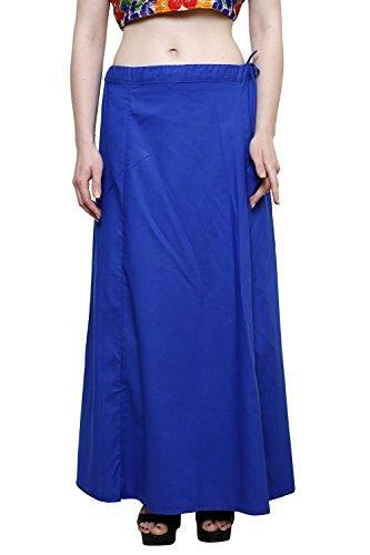 Aurielle Rogisse Mujer India Sari Algodón Enagua Bollywood Solid Inskirt Costuras Forro Enaguas Blue