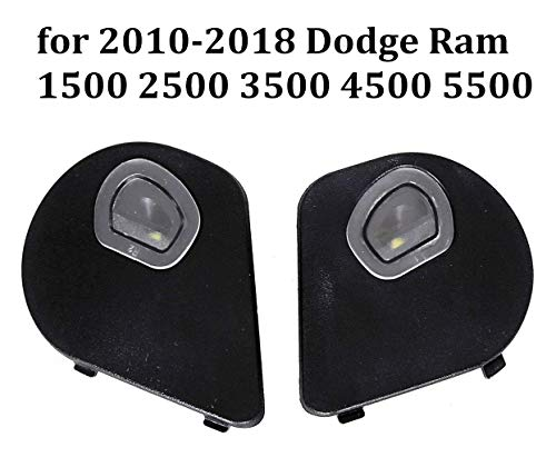 (Driver and Passenger Sides Mirror Puddle Lights Lamps for 2010-2018 Dodge Ram 1500 2500 3500 4500 5500,1 Pair)