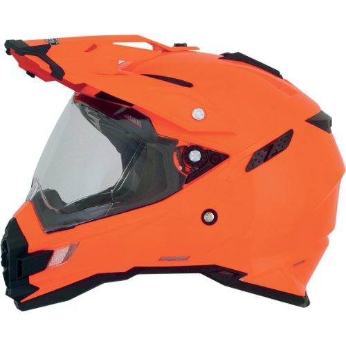 AFX FX-41DS Solid Helmet , Gender: Mens/Unisex, Helmet Type: Offroad Helmets, Helmet Category: Offroad, Distinct Name: Safety Orange, Primary Color: Orange, Size: Md 0110-3768