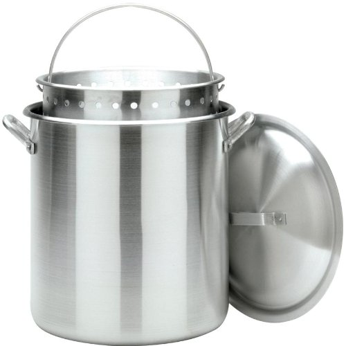 Bayou Classic 1000 100-Qt. Aluminum Stockpot with Boil (Aluminum Stock Pot Basket)