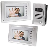 Docooler® 7 Inch Video Door Phone Doorbell Intercom Kit 1-camera 2-monitor Night Vision
