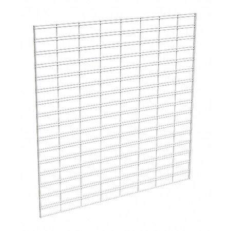 Wire Slatgrid Panel, White, 4ft. x4ft, PK3