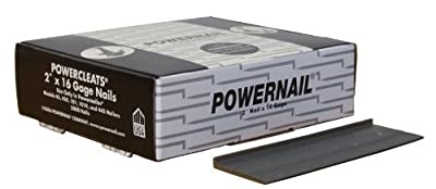 "Powernail 16 Gage 2"" Cleats. Flooring Nails Box of 5,000"