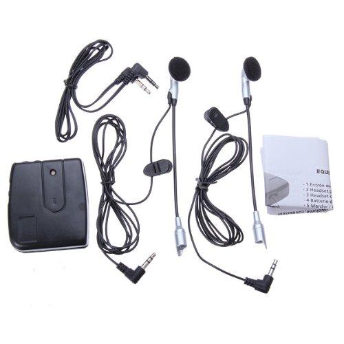 Motorcycle Helmet to Helmet Intercom Set 2 Headsets MP3 Input