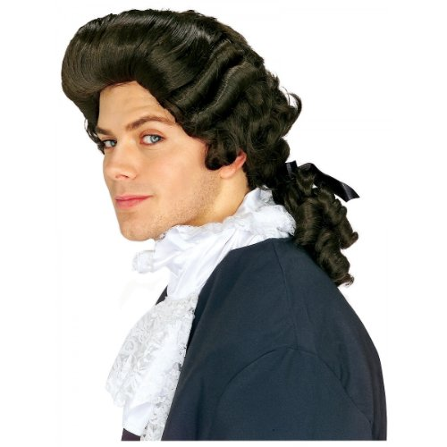 Rubie's Costume Colonial Man Wig, Brown, One Size (Colonial Day Costumes)