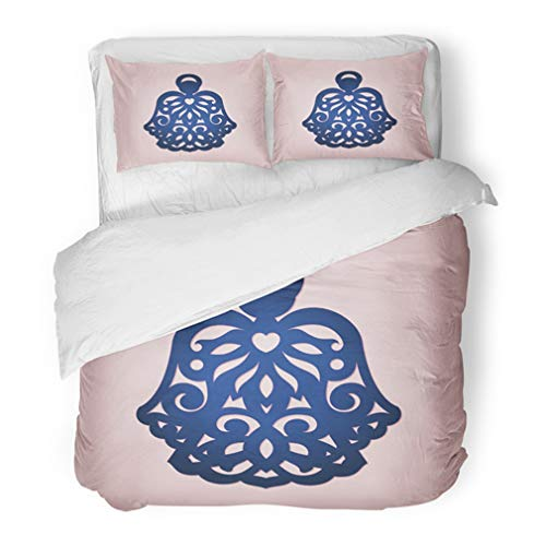 Emvency Bedding Duvet Cover Set Twin (1 Duvet Cover + 1 Pillowcase) Angel for Wood Laser Cutting Christmas Tree Ornamental for X Mas Holiday File Hotel Quality Wrinkle and Stain Resistant