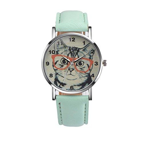 Boyiya Fashion Cat Pattern Leather Band Analog Quartz Vogue Wrist Watch - Watches Sale Macy's