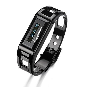 c45846efd1 Flylink男女兼用 Bluetoothブレスレット(液晶付き)Bluetoothブルートゥース腕時計iphoneスマートフォン対応 着信