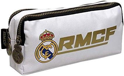 Real Madrid Estuche portatodo Doble portaflautas: Amazon.es: Oficina y papelería