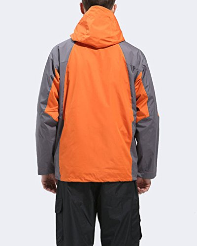 Men Hood Softshell Jackets warm climbing Coat Orange With Jacket Outdoor ZongSen Keep Fleece Waterproof Uq0ddgw