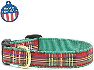 """product image for Up Country Christmas Sparkle Plaid Dog Collar (Medium 11""""-19"""")"""
