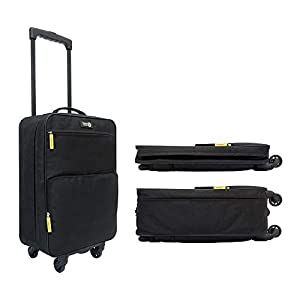 4-Wheel Super Lightweight 1.9kg Collapsible Cabin Luggage. Made of High Tensile Strength Materials. Approved for Ryanair…