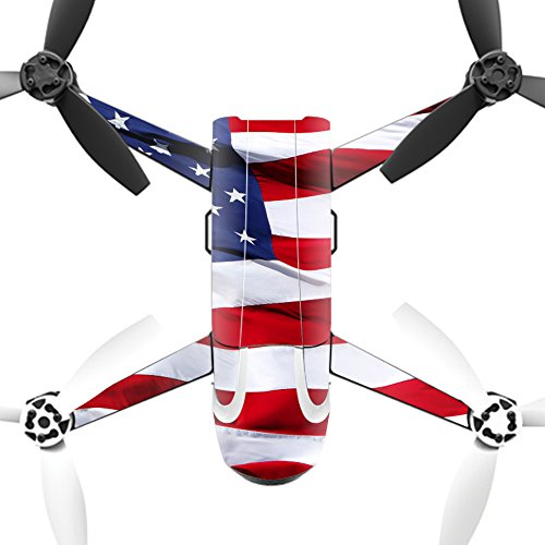 MightySkins Protective Vinyl Skin Decal for Parrot Bebop 2 Quadcopter Drone wrap Cover Sticker Skins American Flag