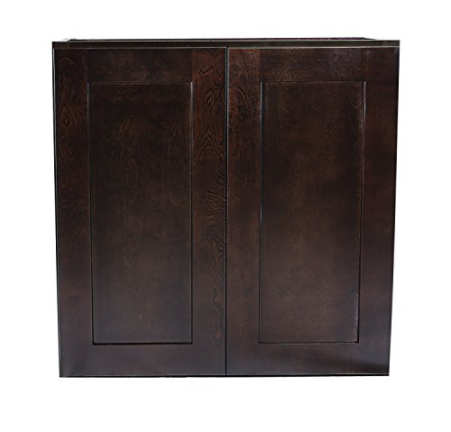 Cabinets Shaker Bathroom Style - Design House 562322 Brookings 27-Inch Wall Cabinet, Espresso Shaker