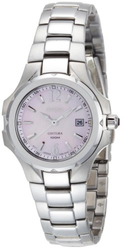 Seiko Women's SXDB65 Coutura Silver-Tone Pink Mother Of Pearl Dial (Coutura Mother Of Pearl Dial)