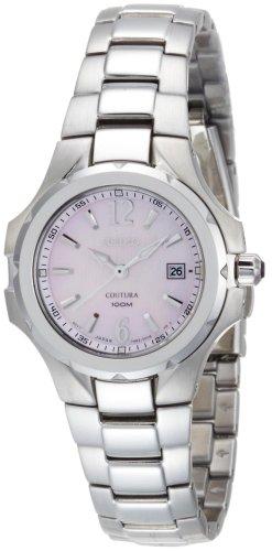 Seiko Women's SXDB65 Coutura Silver-Tone Pink Mother Of Pearl Dial (Coutura Mother Of Pearl Dial)