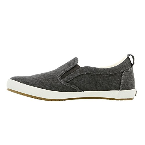 On Women's Dandy Washed Canvas Taos Sneaker Slip Footwear Charcoal AfHAqI