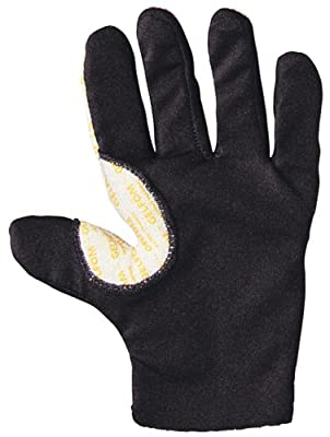 Decade 49131 Anti-Vibration Spandex Full-Finger Right Hand Glove Liner with Gfom, Black, XSmall-Medium