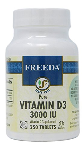 Freeda Vitamin D3 3000 IU, 250 Tabs Kosher