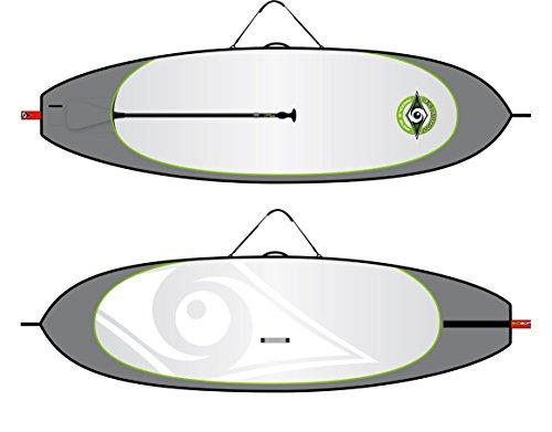 BIC Sport HD SUP Board Bag, Grey/Silver/Red, 11-Feet Round