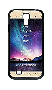 Cool Painting my thoughts are stars Snap-on Hard Back Case Cover Shell for Samsung GALAXY S4 I9500 I9502 I9508 I959 -1186
