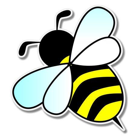Art Sticker Bumper - Cute Bumble Bee Vinyl Sticker - Car Window Bumper Laptop - SELECT SIZE