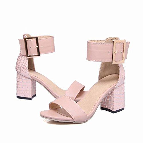 Sandali Con Cinturino Alla Caviglia Open Toe Chic Carolbar Da Donna Con Fibbia