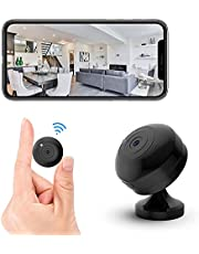 FECOMI Mini Spy Camera WiFi Hidden Cam 1080P Small Portable Wireless Nanny Cam w/Auto Night Vision/Motion Activated Alarm, Security Surveillance Cam Video/Audio Recording with Cell Phone App