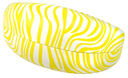 Edge-I-Wear B59-24ZB-YL Hard Clamshell Sunglasses Case, Yellow/White, - Glasses Extra Safety Large Case