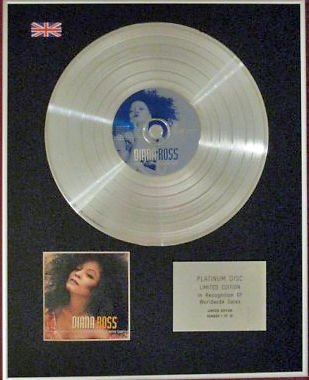 DIANA ROSS - Limited Edition CD Platinum Disc - EVERY DAY IS A NEW DAY