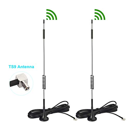 Bingfu 4G LTE 7dBi Magnetic Base External TS9 Antenna (2-Pack) for Verizon AT&T T-Mobile Sprint Netgear Huawei MiFi Mobile Hotspot Router USB Modem Dongle Jetpack AirCard AC791L AC815S AC770S