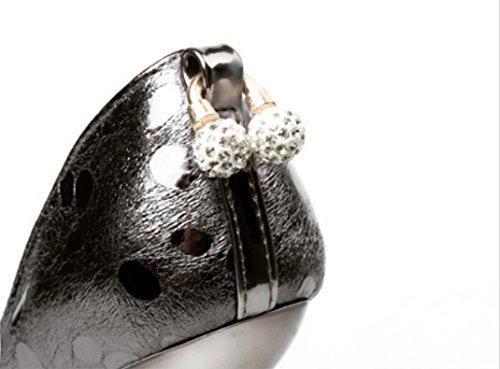 Talons Pointeur de ZCH Point banquet Chaussures gun 34 color femelle diamant 39 chaussures Lady or habillées vague Chaussures chaussures exquises de hauts 7q7gY5