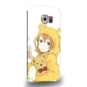 Case88 Premium Designs LoveLive! ?'s Rin Hoshizora 1435 Protective Snap-on Hard Back Case Cover for Samsung Galaxy S6 Edge (Not Normal S6 !)