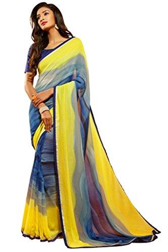 DesiButik's Graceful Multicolor Crepe Jacquard Saree