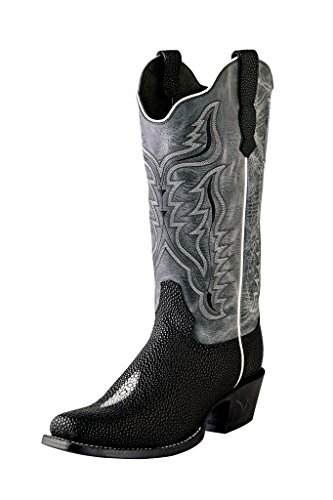 Outlaw Western Boots Womens Stingray Print Stitching 6 B Black (Ray Western Print)
