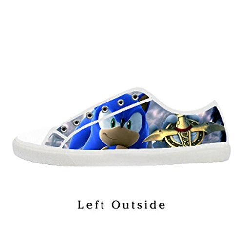 Custom Men Sonic the Hedgehog Canvas Shoes Comfortable Sneakers US10 (Sonic The Hedgehog Sneakers)