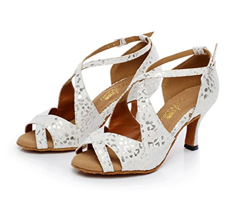 Mujer Samba Tacones heeled6cm Sandalias Our36 EU35 Para Shoes Salsa Tango UK4 Jazz White Tea Modern Altos JSHOE 8HOPwtqfO