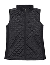 Bienzoe Women Casual Quilted Sleeveless Light Weight Vest